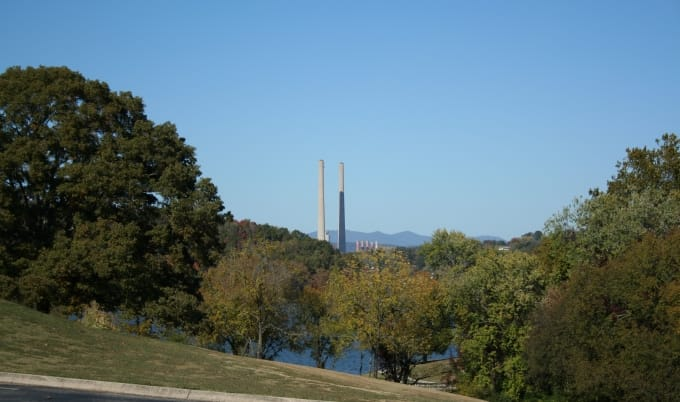 TVA, Kingston Fossil Plant, Kingston smoke stacks, Roane County TVA